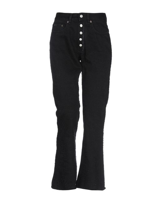 Pantalon en jean MM6 by Maison Martin Margiela en coloris Black