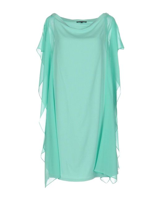Patrizia Pepe - Green Short Dress - Lyst
