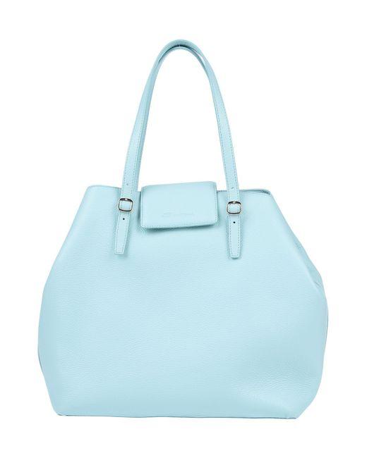 Santoni Blue Handbag