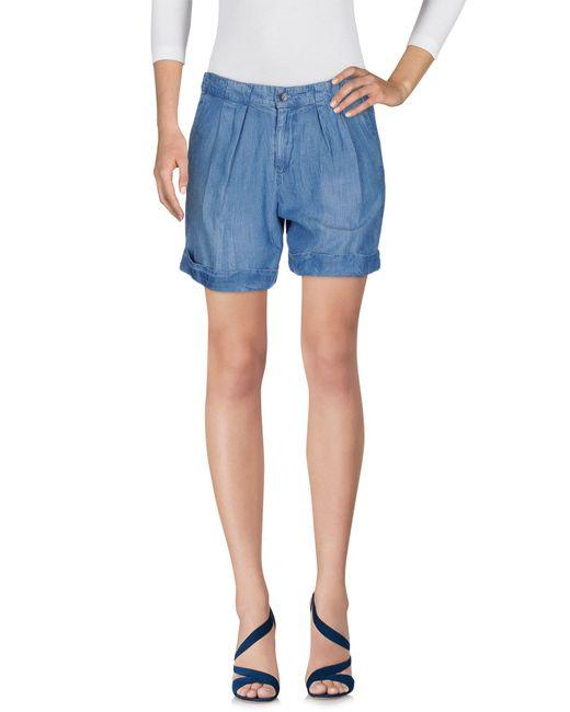 Splendid | Blue Denim Shorts | Lyst
