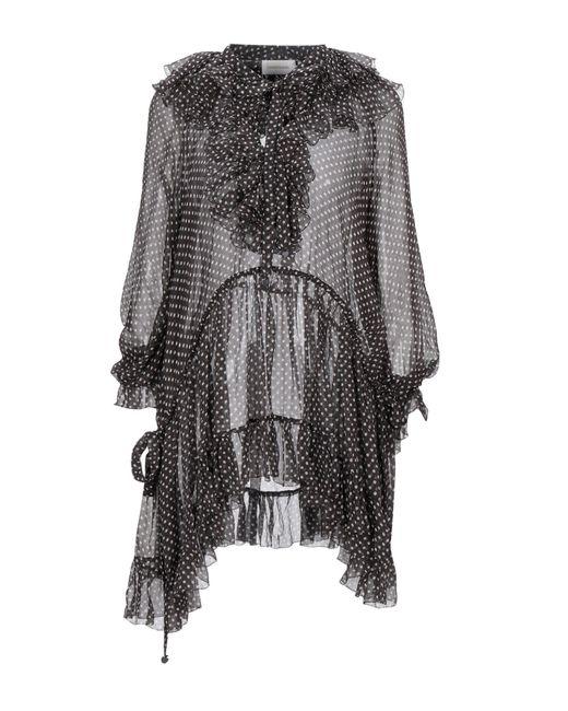 Zimmermann Camisa de mujer de color gris dAGR1