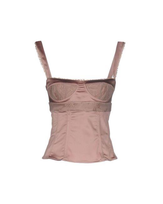 John Galliano | Pink Top | Lyst