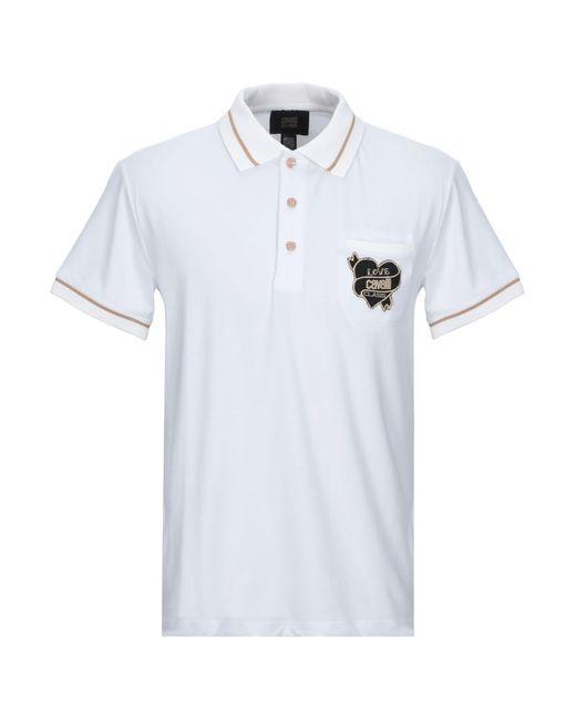 Class Roberto Cavalli White Polo Shirt for men