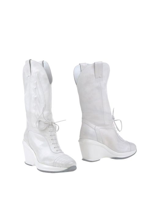 Hogan by Karl Lagerfeld - White Boots - Lyst