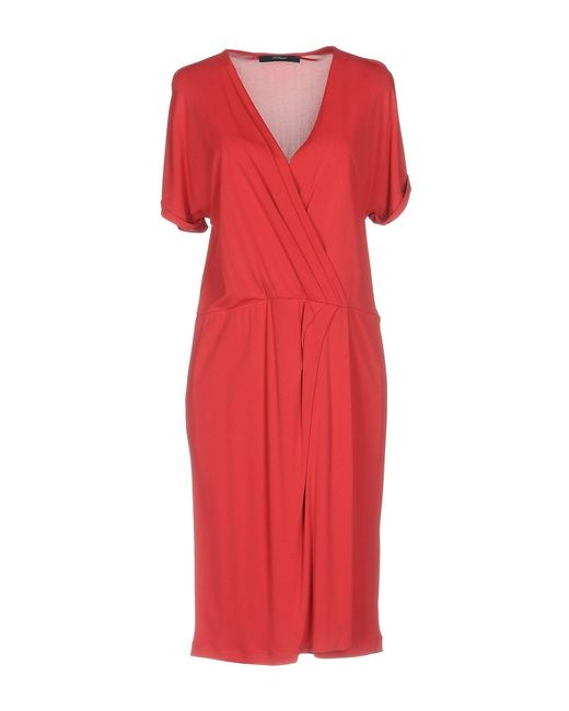 DRESSES - Knee-length dresses Blue Les Copains OFeAlq4cli