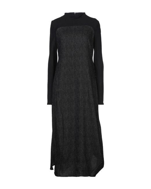 Malloni Vestido largo de mujer de color negro