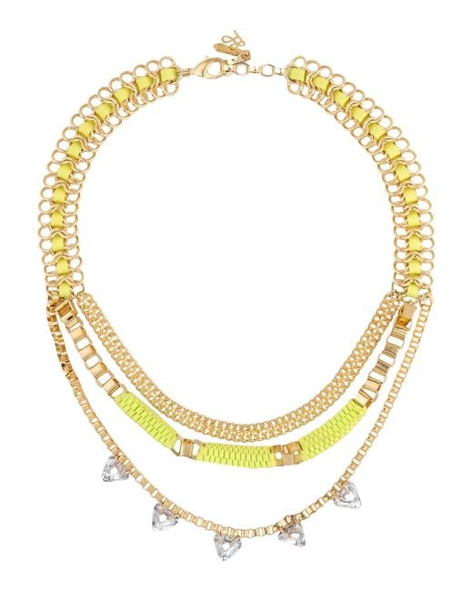 John & Pearl - Metallic Necklace - Lyst