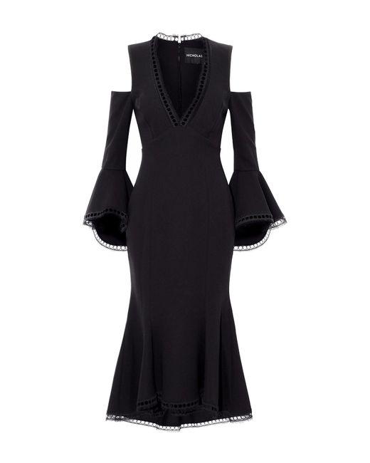 Vestito longuette di Nicholas in Black