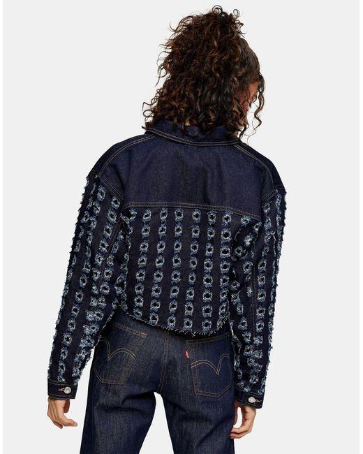 Capospalla jeans di TOPSHOP in Blue