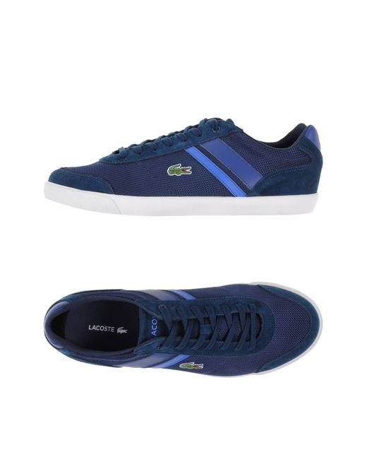 Lacoste - Blue Low-tops & Sneakers for Men - Lyst