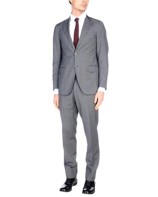 Tombolini | Gray Suit for Men | Lyst