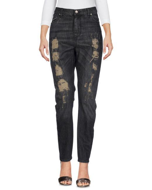 Twin Set - Black Denim Trousers - Lyst