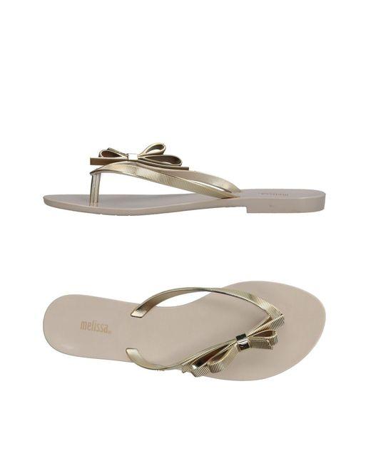 Melissa - Metallic Toe Strap Sandals - Lyst