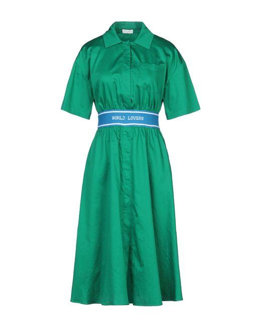 Vestido por la rodilla Sandro de color Green
