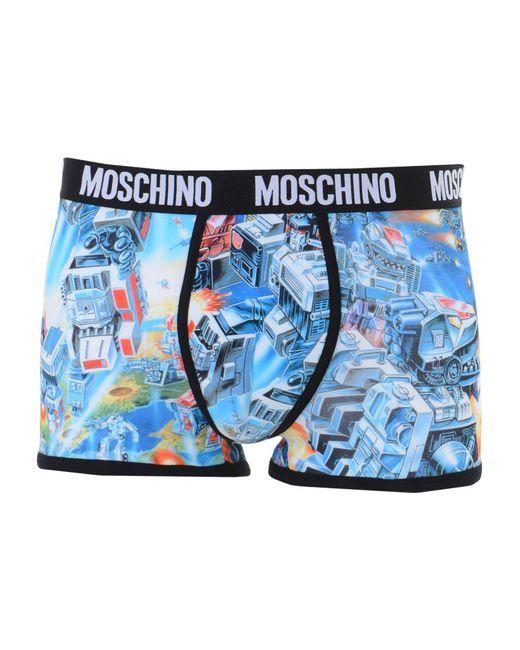 Caleçon Moschino pour homme en coloris Blue