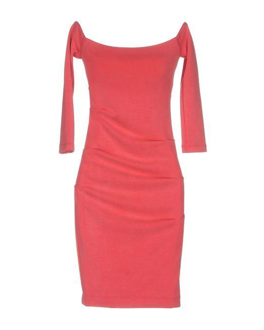 Nicole Miller Artelier - Pink Short Dress - Lyst