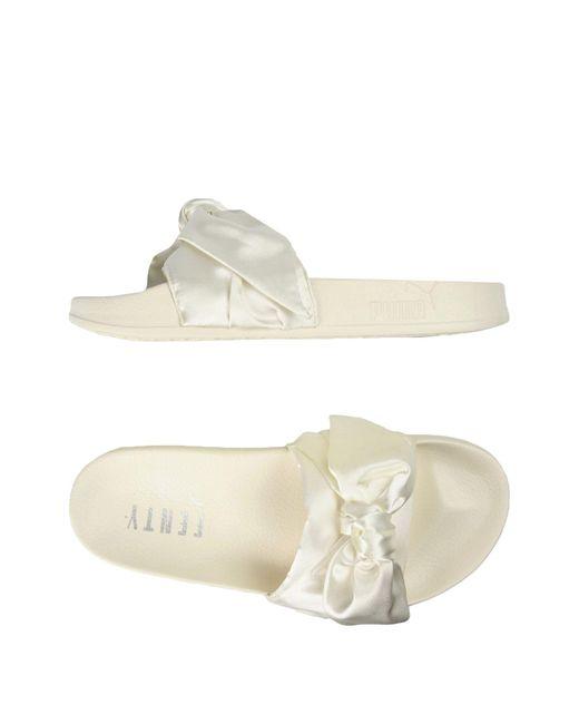 PUMA White Sandals