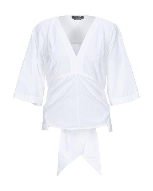 CALVIN KLEIN 205W39NYC Blusa de mujer de color blanco FulFt