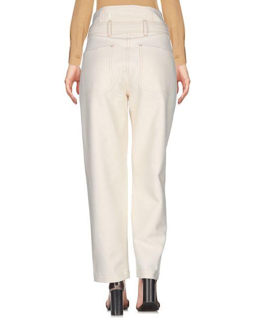 Sessun Pantalon femme de coloris neutre