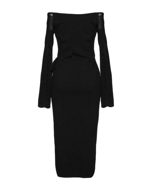 Robe mi-longue Pinko en coloris Black