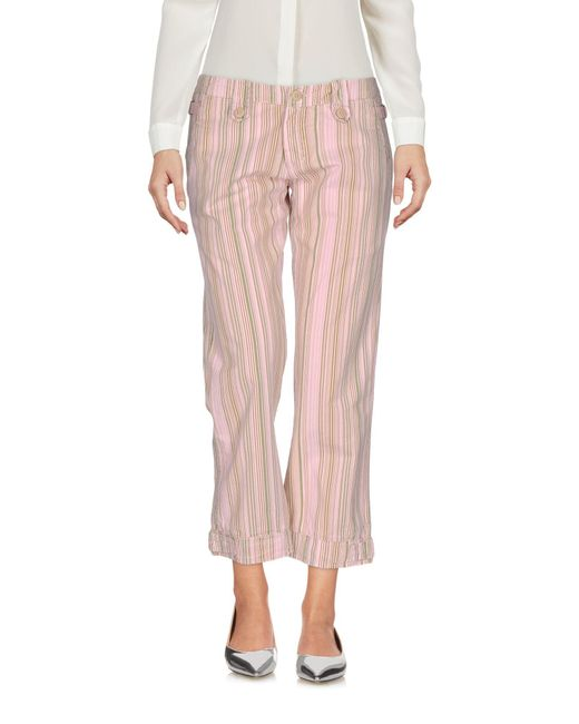 40weft - Pink 3/4-length Trousers - Lyst