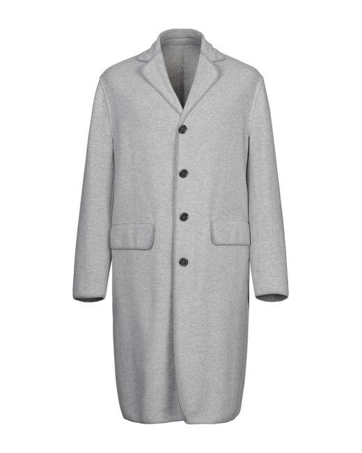 Paolo Pecora Gray Coat for men