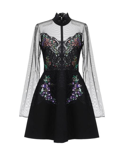 Robe courte Pinko en coloris Black