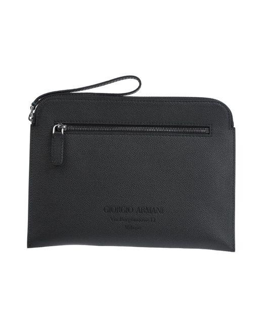 Bolso de mano Giorgio Armani de hombre de color Black