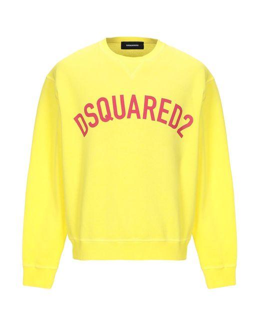 DSquared² Yellow Sweatshirt for men