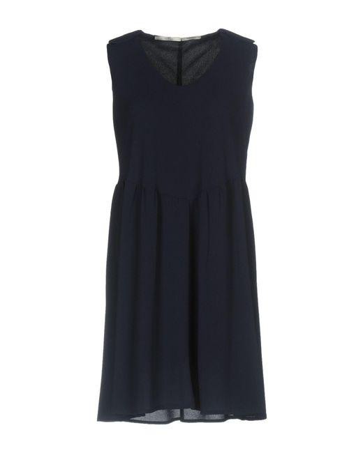 Fairly - Blue Short Dress - Lyst