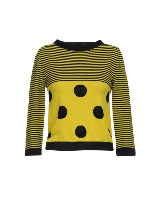 Boutique Moschino - Yellow Sweaters - Lyst