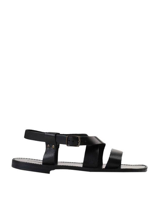 L'artigiano Del Cuoio Black Sandals for men