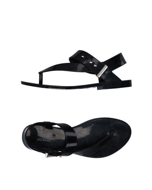 Melissa - Black Toe Post Sandal - Lyst