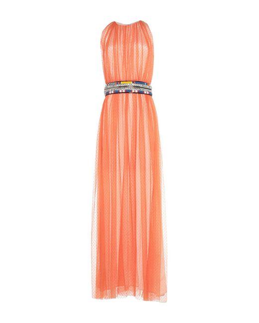 Vestido largo Amen de color Orange