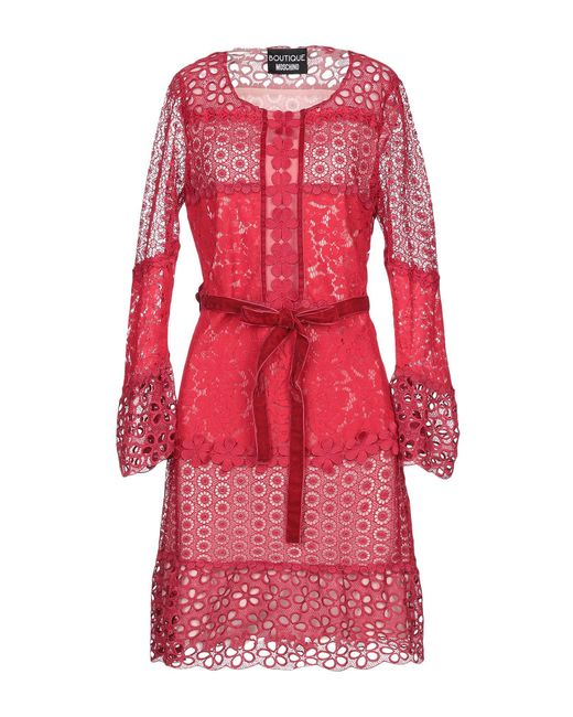 Vestido por la rodilla Boutique Moschino de color Red