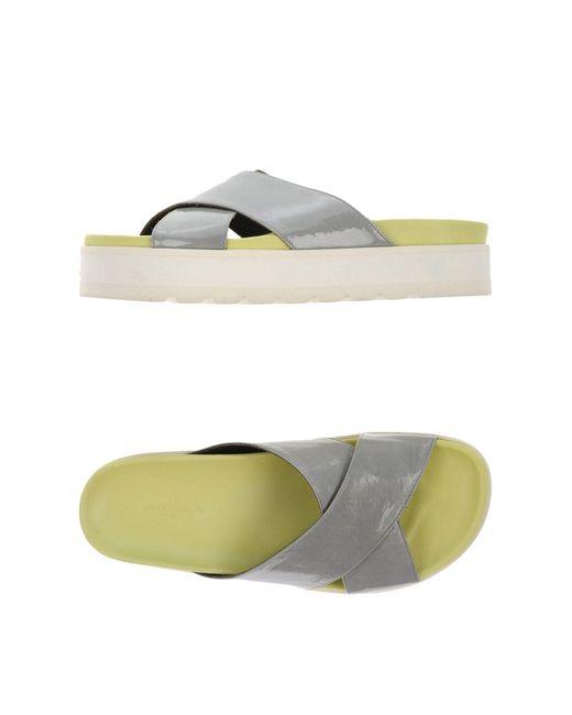 Erika Cavallini Semi Couture - Gray Sandals - Lyst