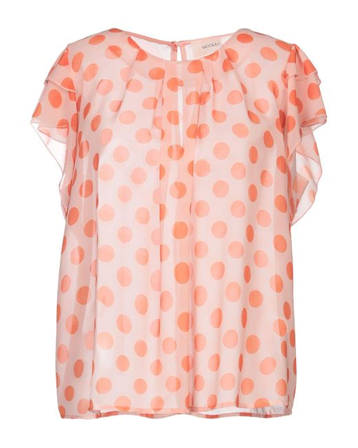 ViCOLO Orange Bluse
