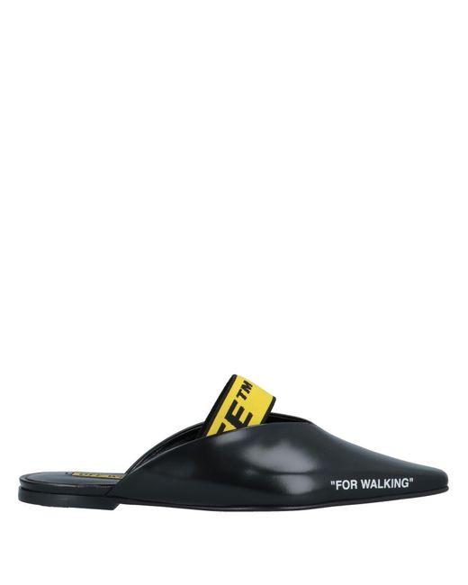 Mules & Zuecos Off-White c/o Virgil Abloh de color Black