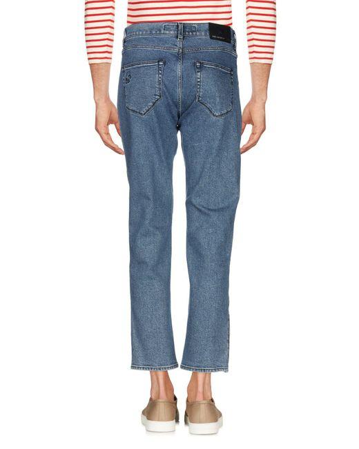 Karl Lagerfeld Pantalon en jean homme de coloris bleu