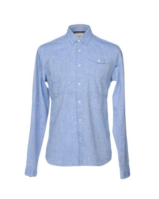 Scotch & Soda - Blue Shirts for Men - Lyst