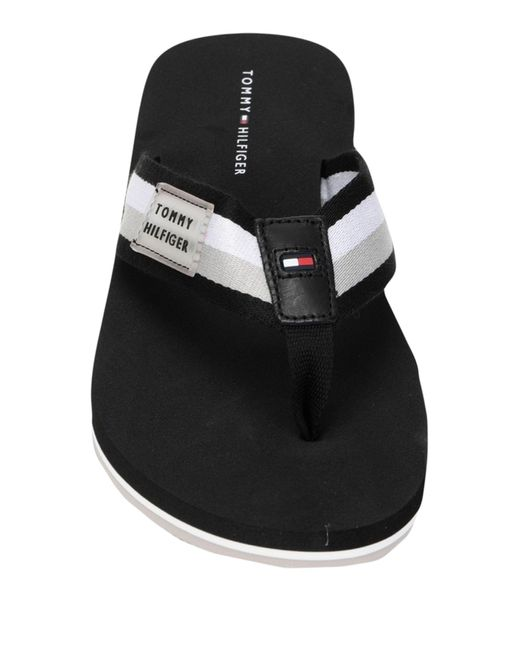 Tommy Hilfiger Black Toe Strap Sandal for men