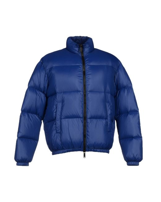 DSquared²   Blue Nylon Down Jacket With Logo Detail for Men   Lyst