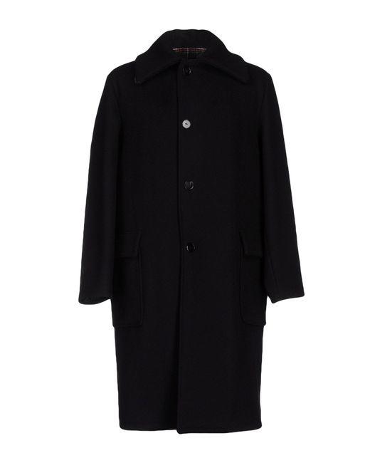 Maison Margiela | Black Double Cloth Coat | Lyst