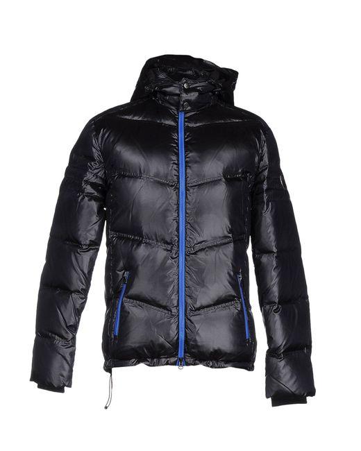 Ea7 Down Jacket in Black for Men