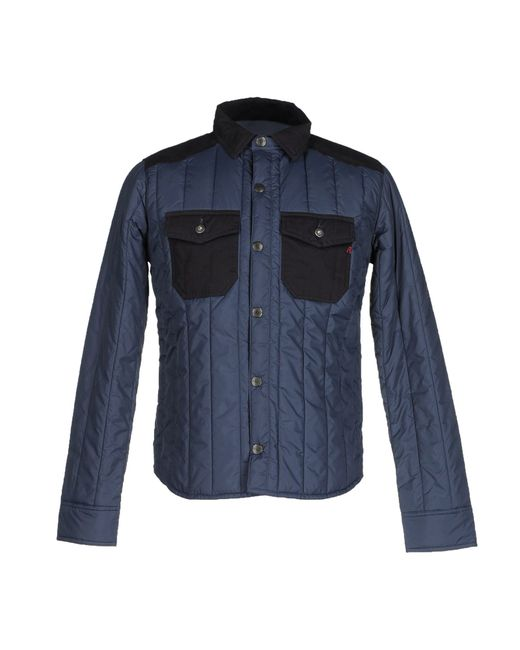 replay jacket in blue for men lyst