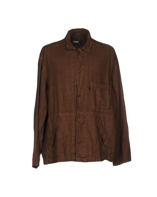 Paul Smith   Brown Overcoat for Men   Lyst