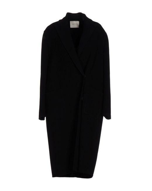 Lanvin | Black Coat | Lyst