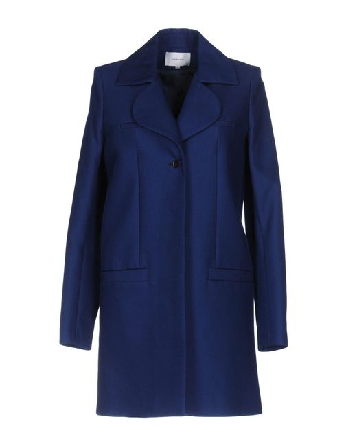 Carven   Blue Coat   Lyst