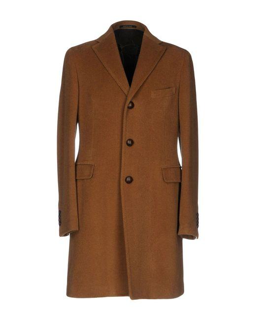 Tagliatore | Brown Coat for Men | Lyst