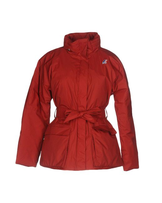 K-Way | Red Down Jacket | Lyst